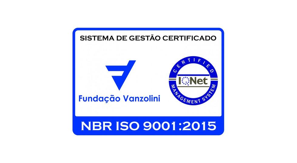 Fundação Vanzolini NBR ISO 9001:2008, certificação SQ-13950.