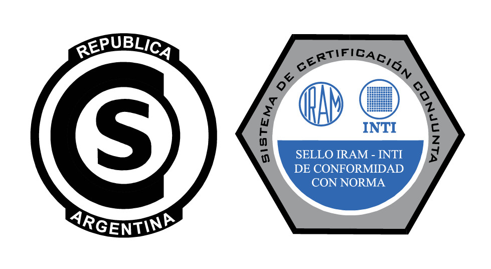 IRAM-INTI joint certification system for steel wire ropes. Lifts seal of approval. Standard IRAM 840 licensed DC -M- I91-001.1C1.
