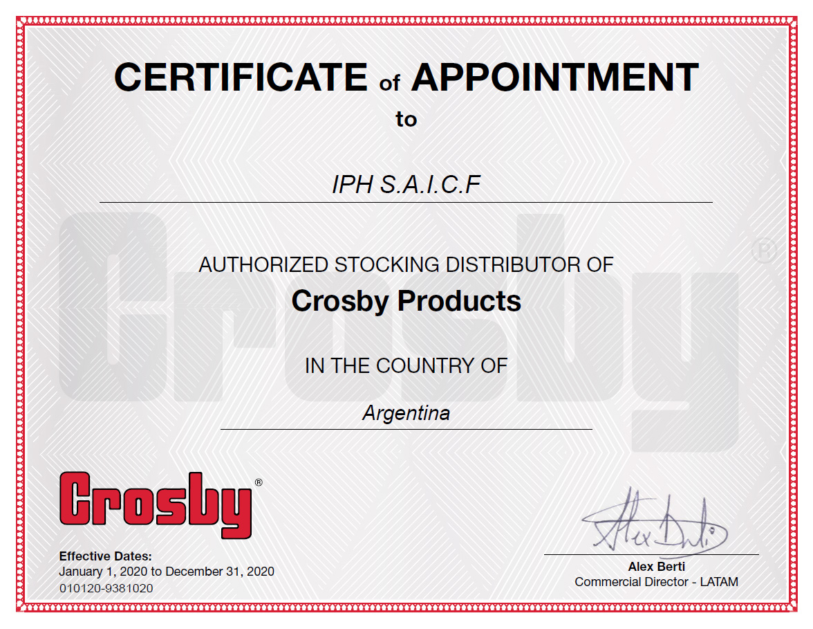 RENEWED OFFICIAL CROSBY DISTRIBUTION0